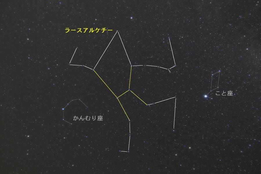 夏の星座 -その3- ヘルクレス座 | 星空の楽しみ方